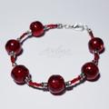 Red/Silver Beaded Bracelet