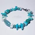 Sea Green/Shell Beaded Bracelet