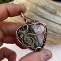 Seraphinite and Kunzite Heart Pendant