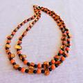 Orange & Black Shell Bead Necklace