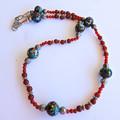 Carnelian & Vintage Bead Necklace