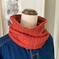 Handmade Winter Cable Knit and French Terry Cowl