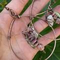 Hearts Answer Triple Stone Earrings