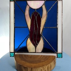 Moon Goddess Stained Glass Panel