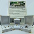 9ct Solid White Gold Australian Green Sapphire and Diamond Pendant