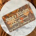 Personalised Kitchen Sign for Nana, Mom - Kalghi Crafts Co