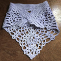 Child's Lacy Shawlette / Scarf  and Hat in Lavender with Silver Sparkles