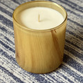 Large Wooden Grain Candle French Pear