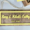 Personalised Cubby House and Room Plaque - Kalghi Crafts Co