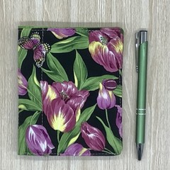 Tulips  Small  Fabric Pocket Notepad Cover
