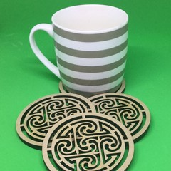 Coffee Coasters Bar Coasters Celtic design made to order