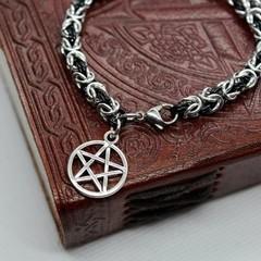 Pentagram Chainmaille Charm Bracelet