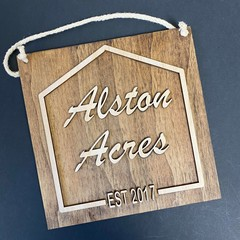 Personalised House Name Sign - Kalghi Crafts Co
