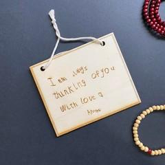Custom Handwriting Sign as a Keepsake Gift - Kalghi Crafts Co