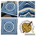 'Lost Garden' Handmade heirloom quality Afghan Blanket Throw