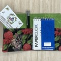 Possums and Waratahs Small  Fabric Pocket Notepad Cover