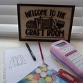 Craft room Sign   Wall Sign   Farmhouse signs   Hampton's   Vintage modern signs