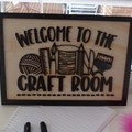 Craft room Sign | Wall Sign | Farmhouse signs | Hampton's | Vintage modern signs
