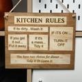 Custom Kitchen Rules Sign Plaque - Kalghi Crafts Co