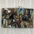 Horses Small  Fabric Pocket Notepad Cover