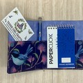Blue wrens Small  Fabric Pocket Notepad Cover