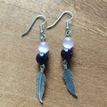 Gemstone Feather Dangle Earring Collection (Assorted Gemstones Available)