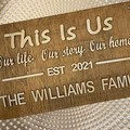 Personalised Wooden Family Name Sign For Housewarming - Kalghi Crafts Co