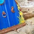 Blue shimmer Fairy Door set
