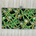 Green frogs Small  Fabric Pocket Notepad Cover