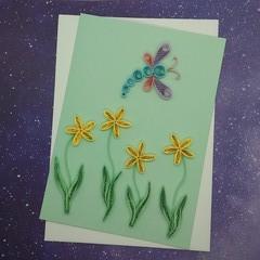 Quilled Card Summer Garden