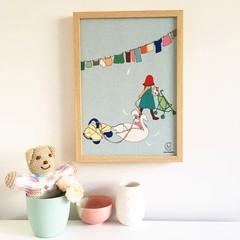 Little Girl Linen Print