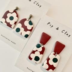 Vintage floral earrings