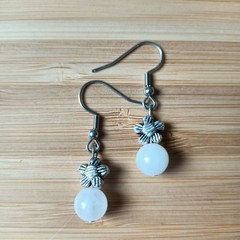 Gemstone Daisy Drop Earring Collection (Assorted gemstones available)