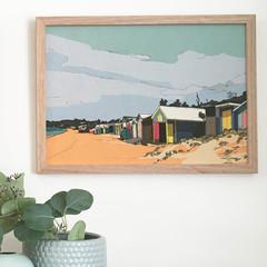 Mount Martha Beach Linen Print