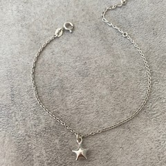 Tiny Star Charm Bracelet in Silver, Gold or Rose Gold Vermeil