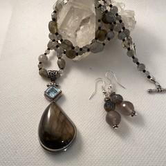 Labradorite and Topaz Necklace