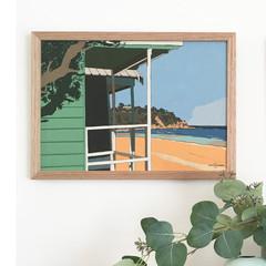 Mount Martha South Beach Linen Print