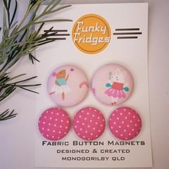 Ballerinas in Pink Flat Magnet Set