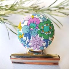 Liberty June Blossom Magnetic Bulldog Clip