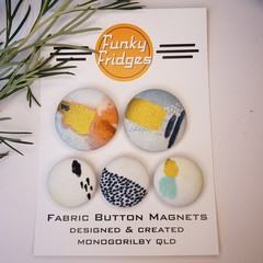 Pastel Pattern with Gold Flat Magnet Set