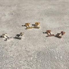 Boho Bar Studs Earrings in Silver, Gold or Rose Gold Vermeil