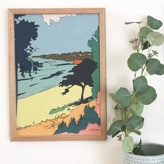 Mornington Mothers Beach Linen Print
