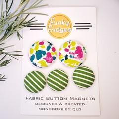 Splotches & Stripes Flat Magnet Set