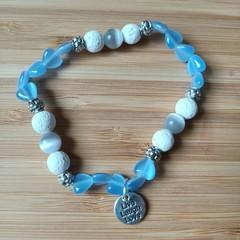 Gemstone Live, Laugh, Love Bracelet Collection (Assorted Gemstones Available)