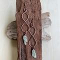 Green Kyanite Infinity Earrings