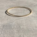 Boho Bangle in Silver, Gold or Rose Gold Vermeil
