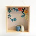 Floral Box Shelf & Flower Vase