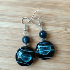 Gemstone & Glass Dangle Earring Collection (assorted gemstones available)