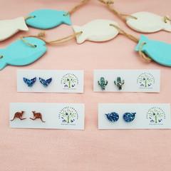 Cute mini Stud Glitter Earrings
