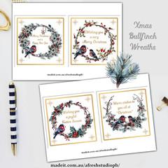Xmas Bullfinch Wreaths AfreshDesignPB